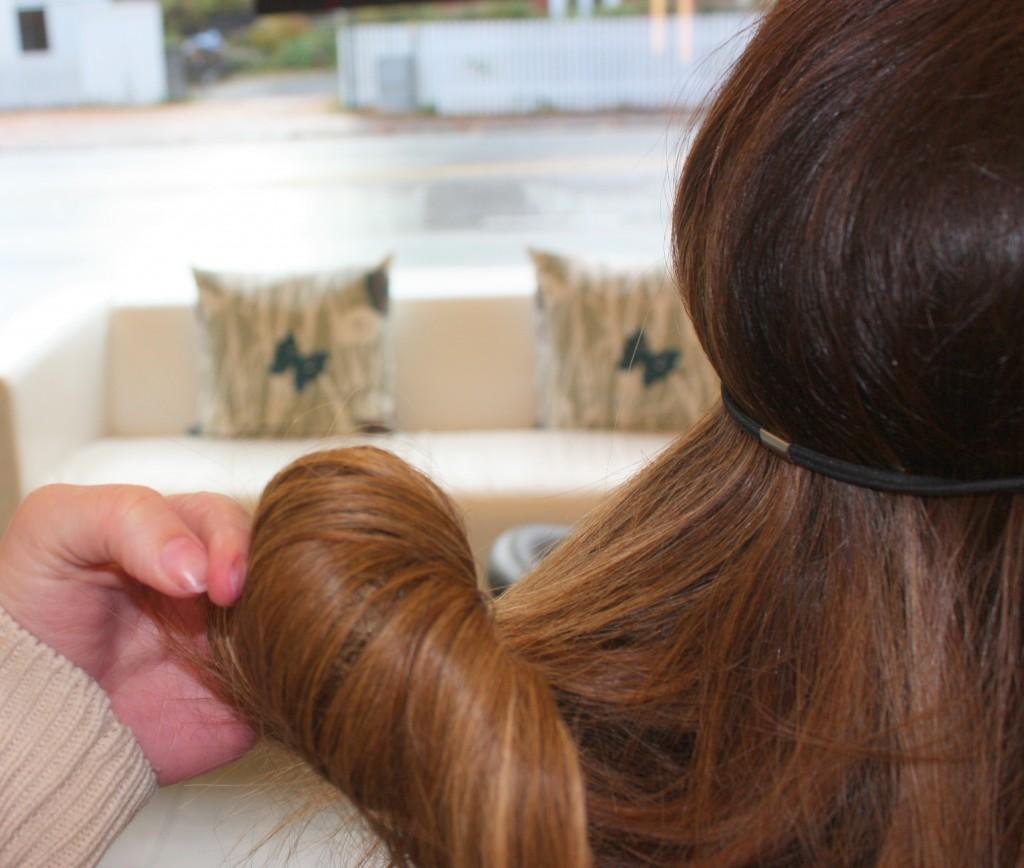 rulle opp hår
