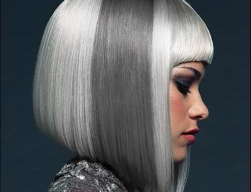 Gray hair fashion
